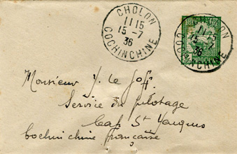Letter From Cholon to Cape St.Jacques