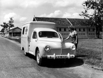 Ambulance Peugeot 203 Hopital Rocques Govap Indochine