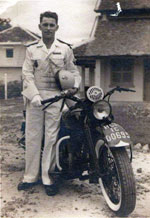 Motard escorte d honneur Saigon 1949