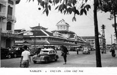 Le marché Central de Cholon en 1956