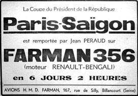 Paris-Saïgon en Farman 356