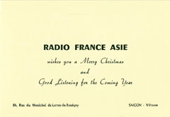 Radio France-Asia Saigon Christmas 1954