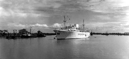 The Messageries Maritimes steamship La Marseillaise in 1949