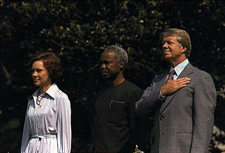 President Julius Nyerere and Jimmy Carter